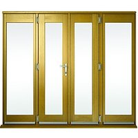 Wickes Albery Pattern 10 Solid Oak Laminate French Doors 10ft with 2 Side Lites 600mm