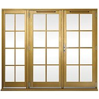 Wickes Albery Georgian Bar Solid Oak Laminate French Doors 7ft with 1 Side Lite 600mm