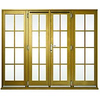 Wickes Albery Georgian Bar Solid Oak Laminate French Door 10ft with 2 Side Lite 600mm
