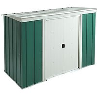 Rowlinson 8 x 4 ft Double Door Metal Pent Shed without Floor