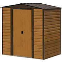 Rowlinson 6 x 5 ft Woodvale Double Door Metal Apex Shed without Floor