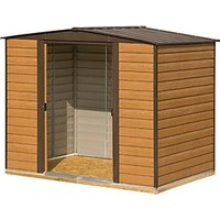 Rowlinson 10 x 6 ft Woodvale Large Double Door Metal Apex Shed including Floor