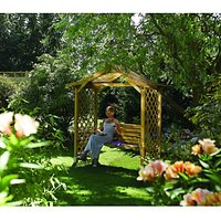 Rowlinson Dartmouth Swing Trellis Arbour - 2235 x 1090 mm