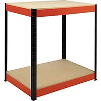 Click to view product details and reviews for Rb Boss 2 Tier Wood Shelves Workbench 900 X 900 X 300mm 300kg Udl.