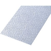Wickes Metal Sheet Uncoated Aluminium Roughcast Effect - 120mm x 1m