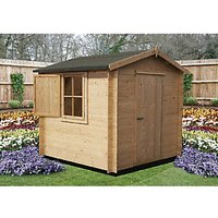 Shire 7 x 7 ft Camelot Log Cabin with Shuttered Window