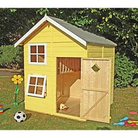 Shire 5 x 5 ft Croft and Bunk Split Level Wooden Playhouse