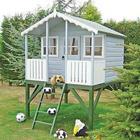Shire 6 x 6 ft Wooden Elevated Wooden Childrens Playhouse with Veranda
