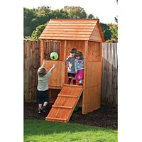 Shire 4 x 4 ft Lookout Elevated Timber Playhouse with Ramp