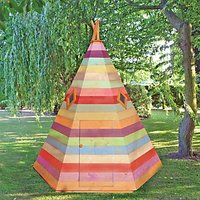 Shire 6 x 6 ftWooden Wigwam Childrens Playhouse