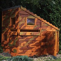 Shire Command Post Wooden Playhouse with Water Gun Ports - 6 x 4 ft