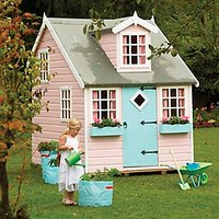 Shire 8 x 6 ft Large Cottage and Bunk Wooden Childrens Playhouse