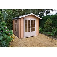 Shire 10 x 10 ft Barnsdale Double Door Log Cabin with Assembly