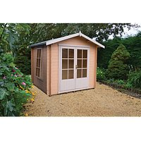 Shire 7 x 7 ft Barnsdale Double Door Log Cabin with Assembly
