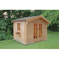 Shire 10 x 8 ft Dalby Traditional Double Door Log Cabin with Assembly