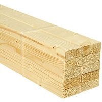 Wickes Whitewood PSE Timber - 18 x 44 x 2400 mm Pack of 10