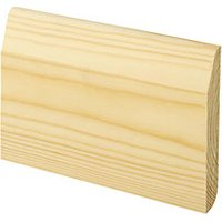 'Wickes Dual Purpose Large Round/chamfered Pine Skirting - 15mm X 95mm X 2.4m