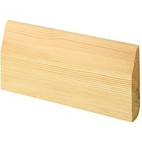 'Wickes Dual Purpose Chamfered/bullnose Pine Skirting - 15mm X 69mm X 2.4m