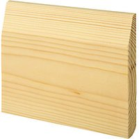 'Wickes Dual Purpose Chamfered/bullnose Pine Skirting - 15mm X 119mm X 2.4m