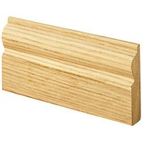 Wickes Torus Oak Veneer MDF Architrave - 15 x 69mm x 2.1m Pack of 5