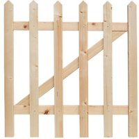 Wickes Palisade Pointed Top Timber Gate Kit - 865 x 890 mm