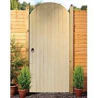 Wickes Ledged & Braced Arched Top Timber Gate Kit - 990 x 1981 mm
