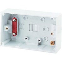 Wickes Pattress Box For Cooker Control Units 2 Gang 47mm