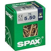 Spax Universal Zinc Yellow Screws 5.0 x 50mm Pack 75
