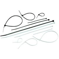 Wickes Cable Ties - Black/White Mixed Size Pack of 50