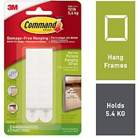 Command Narrow Picture Hanging Strips White 8 Pack