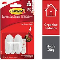 Command Small Oval Hooks White 2 Pack