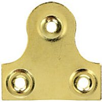 Wickes Glass Plate Plain - Brass 33mm Pack of 10