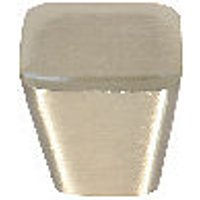 Wickes Tapered Square Knobs Brushed Nickel Finish 30mm 2 Pack