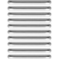 Wickes Plastic Pull Handles Silver 105mm 10 Pack