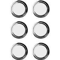Wickes Ring Door Knob - Polished Chrome 35mm Pack of 6