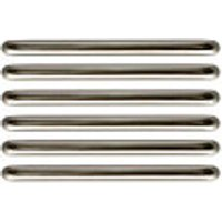 Wickes D Bar Handles Brushed Nickel Finish 138mm 6 Pack