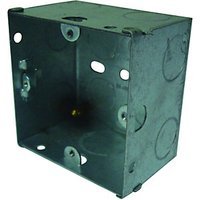 Wickes 1 Gang Flush Steel Knockout Box - 47mm