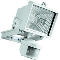Wickes Compact White Halogen Floodlight with PIR - 120W R7S