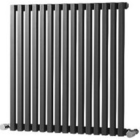 Wickes Grace Multi Column Designer Radiator   Gunmetal Grey 600 x 590 mm