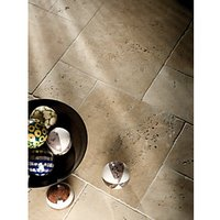 Wickes Sicilian White Tumbled Travertine Opus Wall & Floor Tile