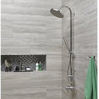 Click to view product details and reviews for Wickes Everest Stone Porcelain Tile 600 X 300mm.