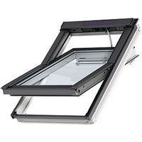 VELUX INTEGRA White Painted Solar Centre Pivot Roof Window - 550 x 980mm