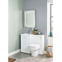 Wickes White L-Shaped Vanity Unit and Basin (LH)