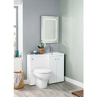 Wickes White L-Shaped Vanity Unit and Basin (RH)