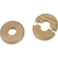 Wickes Real Wood Pipe Surrounds Medium Wood Effect 2 Pack