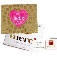Persönliche Grußkarte mit Merci: Ich liebe Dich (250g)