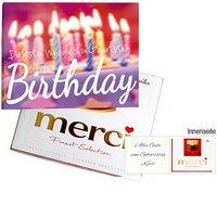 Persönliche Grußkarte mit Merci: Happy Birthday (250g)