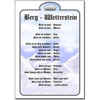Image of Schild für Berg-Wetterstein im DIN A4-Format