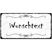 Blechschild Vintage Style mit Wunschtext im Format 300 x 150mm