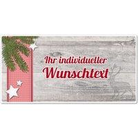 Hüttendeko-Schild mit Wunschtext und Tannenzweig - 300 x 150mm
